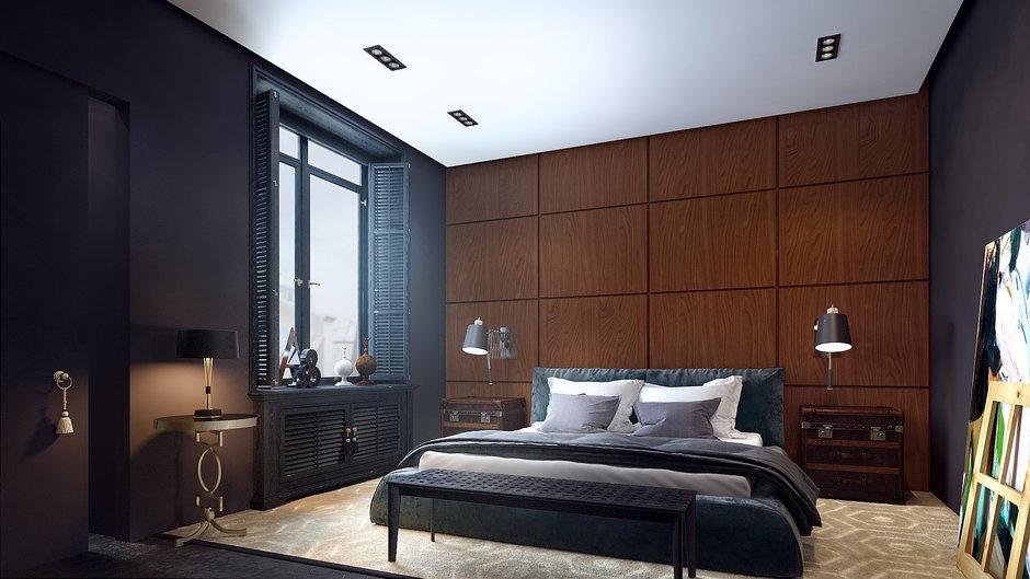 Фотография: Спальня в стиле Восточный, Квартира, Дома и квартиры, Проект недели, Ар-деко – фото на InMyRoom.ru