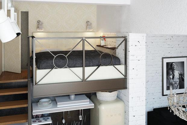 Фотография: Спальня в стиле Лофт, Квартира, Дома и квартиры, IKEA, Проект недели – фото на InMyRoom.ru