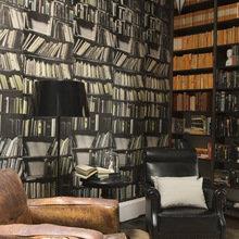 Фотография:  в стиле Кантри, Классический, Современный, Системы хранения, Библиотека, Домашняя библиотека – фото на InMyRoom.ru