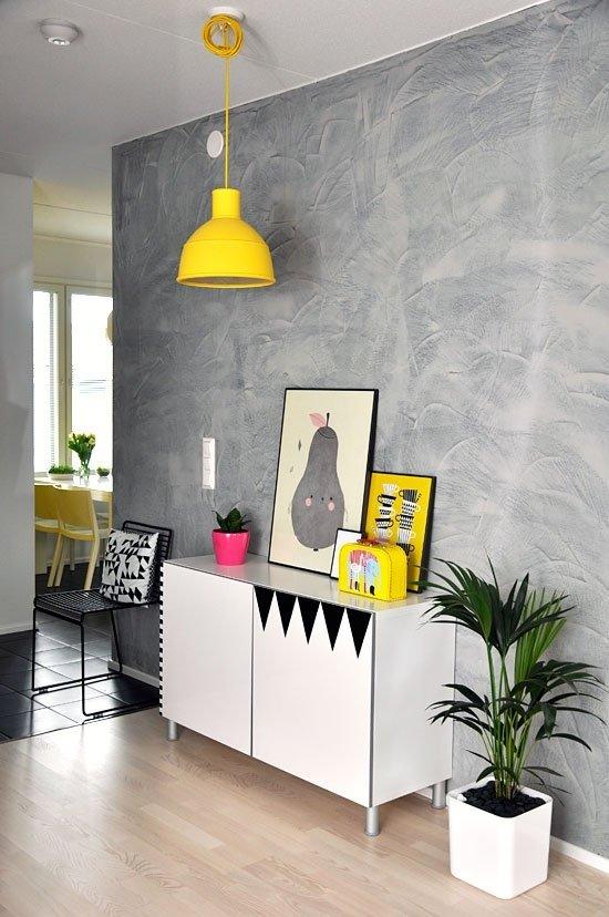 Фотография: Гостиная в стиле Лофт, Современный, Декор интерьера, Аксессуары, Декор, Белый, Черный, Желтый, Серый, Бирюзовый – фото на InMyRoom.ru
