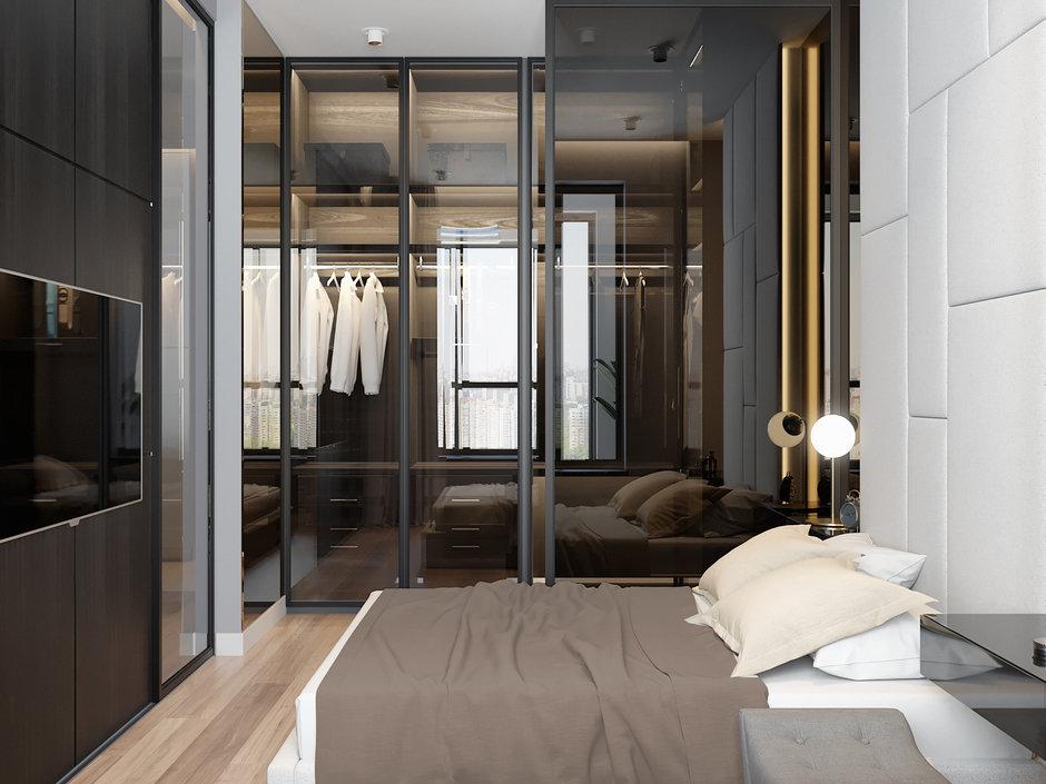 Фотография: Спальня в стиле Современный, Проект недели, ЖК Фили Град, новостройка, Quadro room – фото на InMyRoom.ru