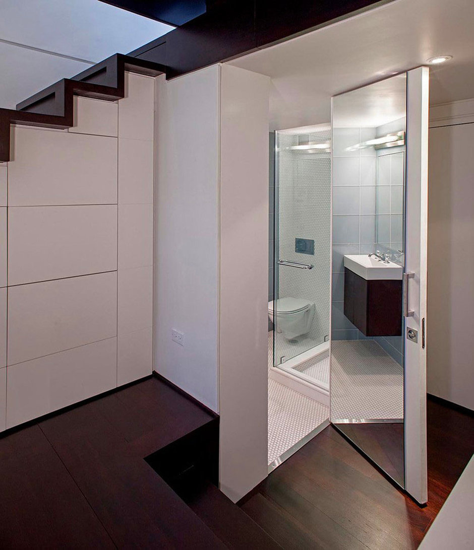 Фотография: Ванная в стиле Современный, Квартира, Дома и квартиры, Перепланировка – фото на InMyRoom.ru