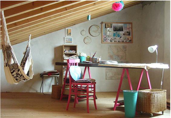 Фотография: Кабинет в стиле Прованс и Кантри, Эклектика, Декор интерьера, Декор дома, Гамак – фото на INMYROOM