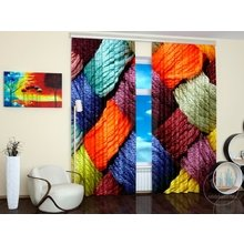 Стильные фотошторы: Цветное плетение