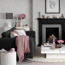 Фотография: Гостиная в стиле Кантри, Декор интерьера, Дизайн интерьера, Цвет в интерьере, Черный – фото на InMyRoom.ru