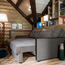 Фотография: Гостиная в стиле Кантри, Спальня, Интерьер комнат, Мансарда – фото на InMyRoom.ru