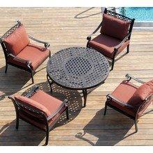 """Комплект садовой мебели из литого алюминия """"ФУДЗИ"""" стол с барбекю на четыре персоны"""