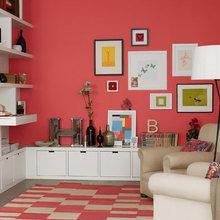 Фотография: Гостиная в стиле Современный, Декор интерьера, Дизайн интерьера, Цвет в интерьере, Краска – фото на InMyRoom.ru