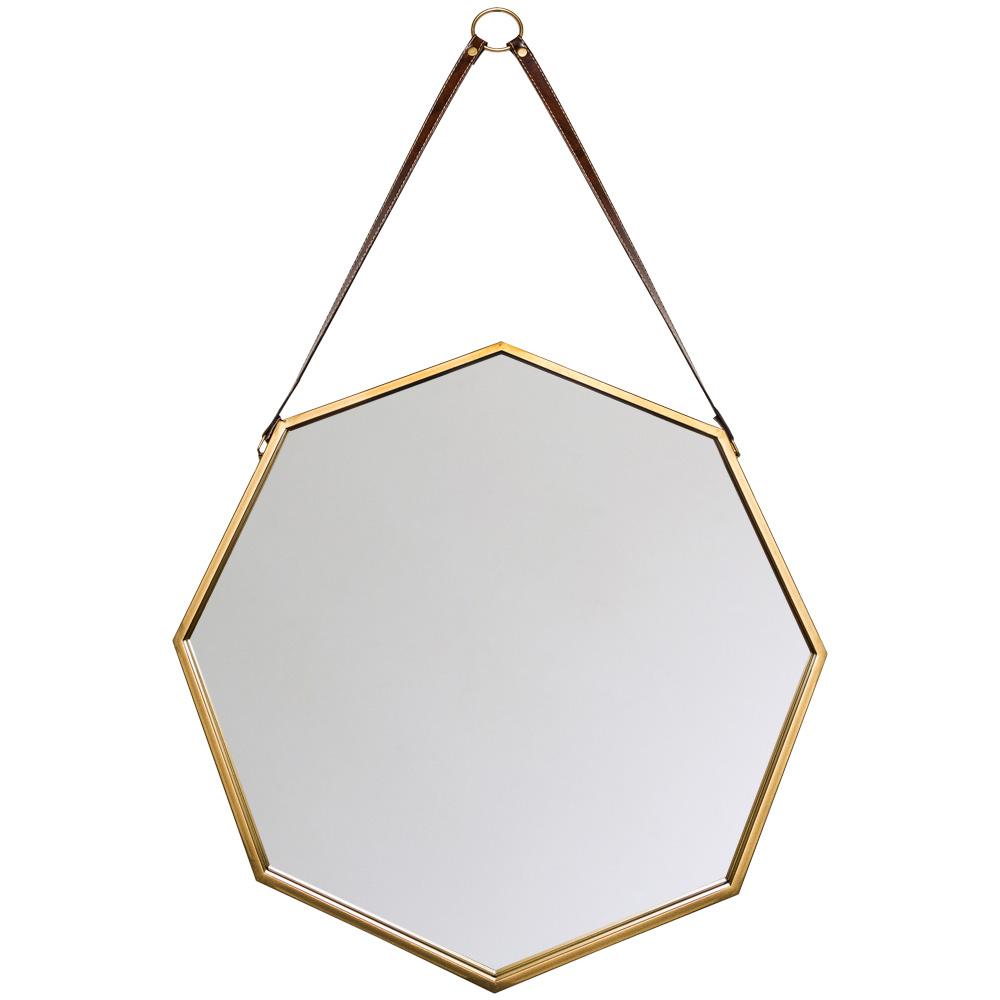 Купить Настенное зеркало октагон с кожаным подвесом, inmyroom, Россия