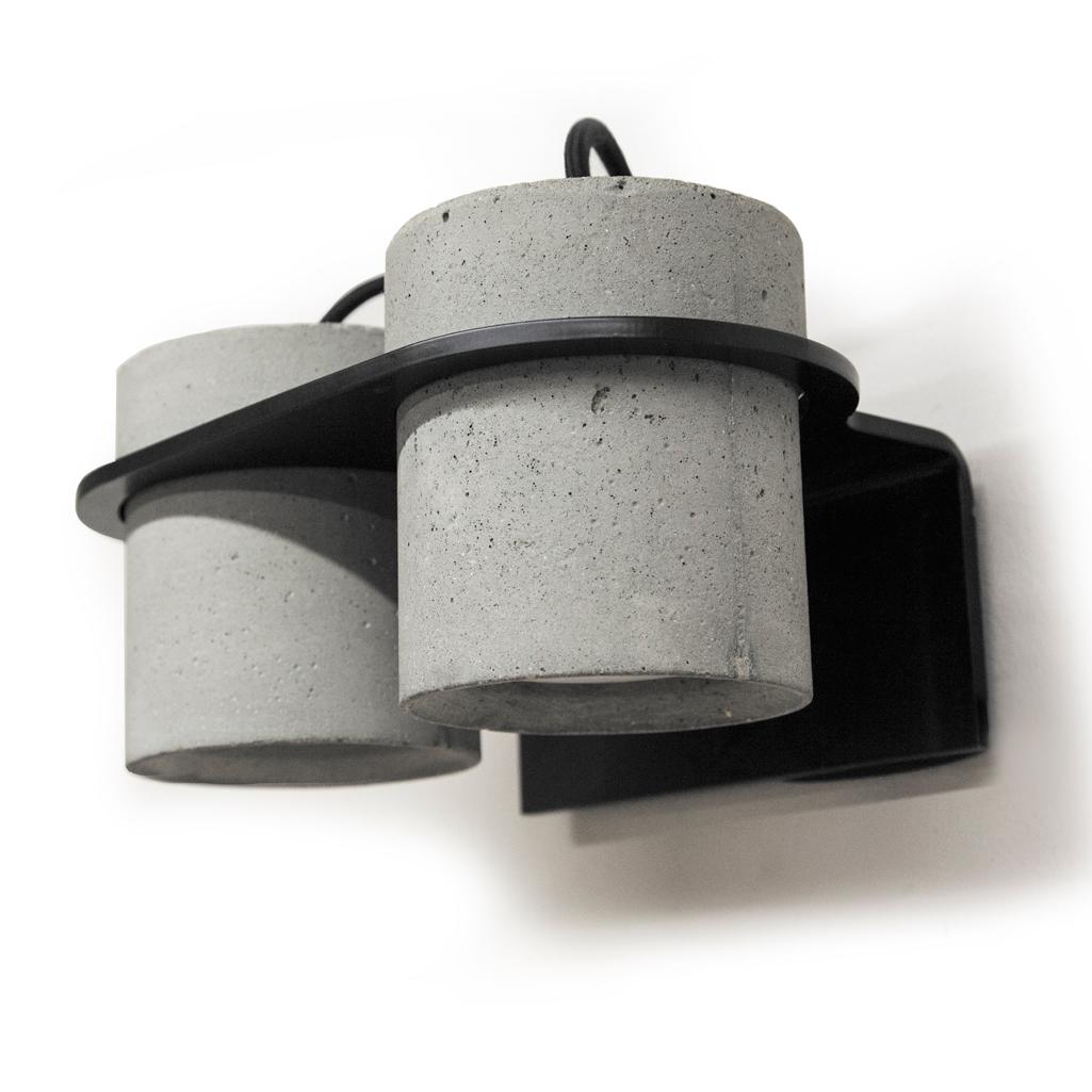Купить Бра Into с двумя плафонами из бетона, inmyroom, Россия
