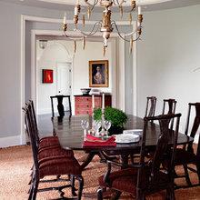 Фотография: Кухня и столовая в стиле Кантри, Эклектика, Дом, Цвет в интерьере, Дома и квартиры – фото на InMyRoom.ru