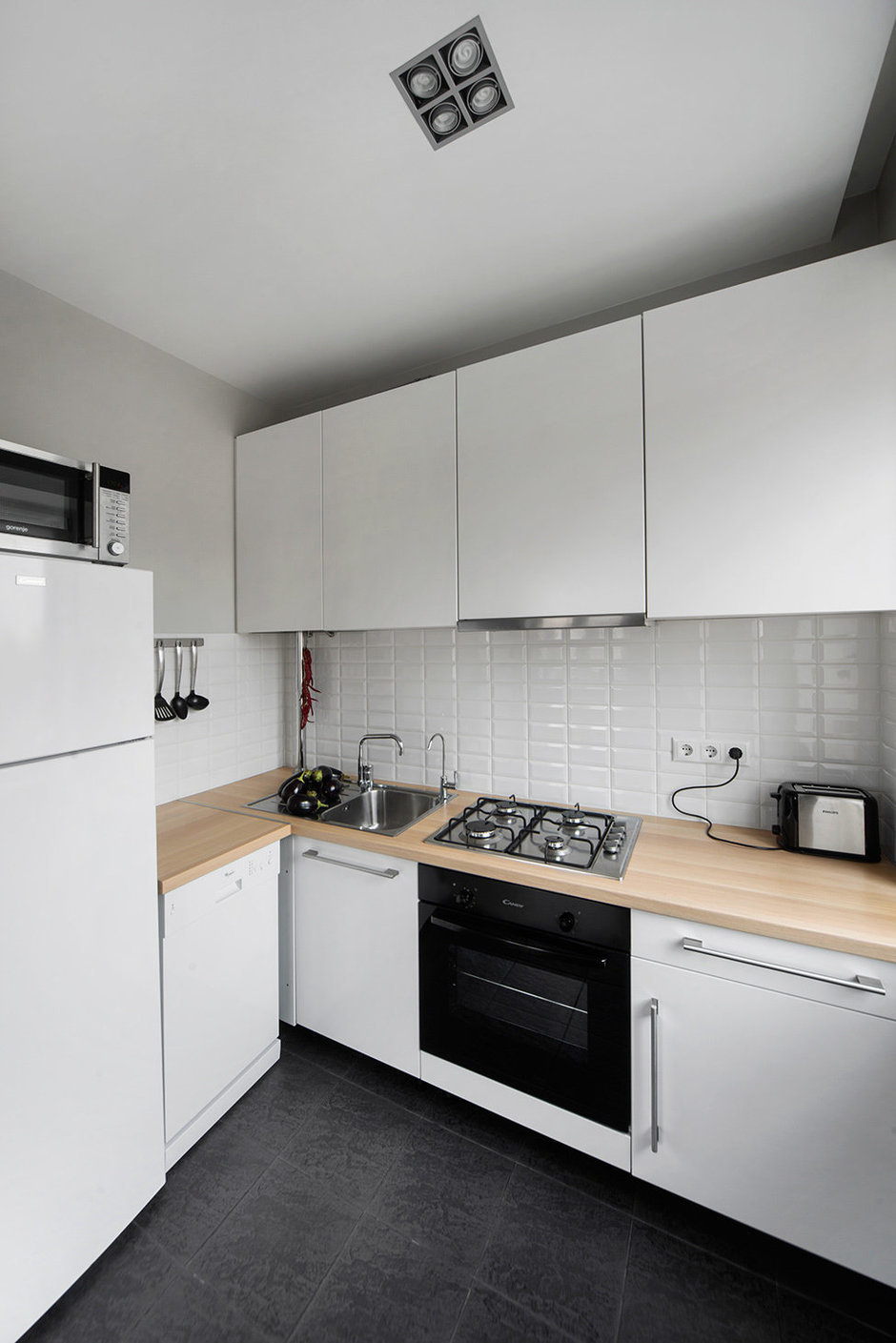 Фотография: Кухня и столовая в стиле Современный, Малогабаритная квартира, Квартира, Дома и квартиры, IKEA, Проект недели, Хрущевка – фото на InMyRoom.ru