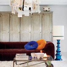 Фотография: Гостиная в стиле Кантри, Прихожая, Декор интерьера, Дом, Цвет в интерьере, Дома и квартиры, Белый, Стены, Лестница – фото на InMyRoom.ru