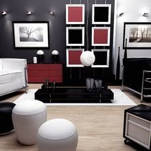 Фотография: Гостиная в стиле Хай-тек, Декор интерьера, Дизайн интерьера, Цвет в интерьере – фото на InMyRoom.ru