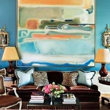 Фотография: Гостиная в стиле Кантри, Декор интерьера, Декор, абстрактная живописть в интерьере, абстрактное искусство в интерьере – фото на InMyRoom.ru