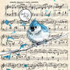 Принт Blue Bird Song А2