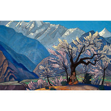 Картина (репродукция, постер): Кришна (Весна в Кулу), 1930 - Николай Рерих