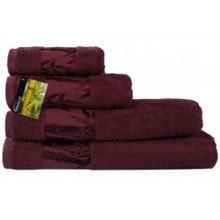 Полотенце Бамбук 50х90 бордовый