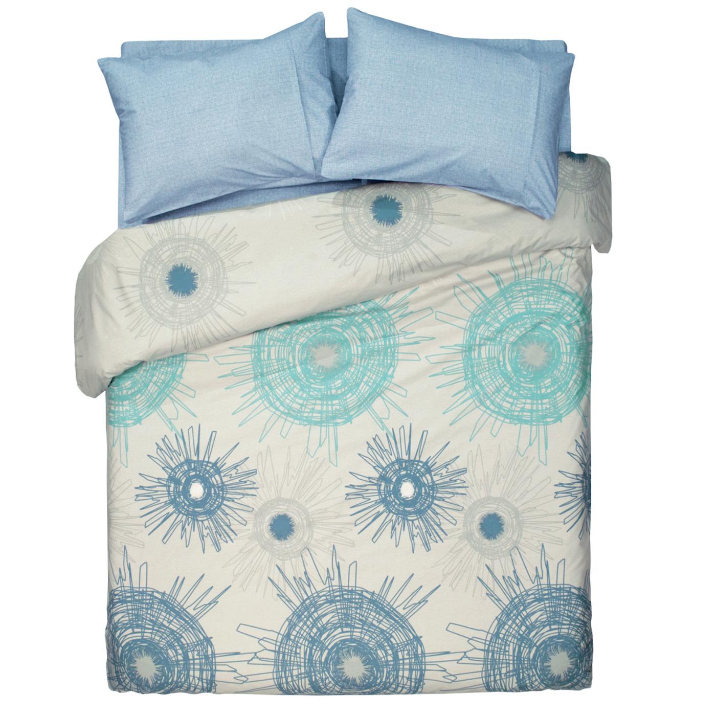 Купить Комплект постельного белья Atomic Blue Family, inmyroom, Турция