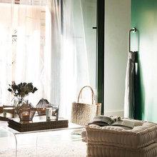Фотография: Гостиная в стиле Минимализм, Эко, Малогабаритная квартира, Квартира, Цвет в интерьере, Дома и квартиры, Зеленый – фото на InMyRoom.ru