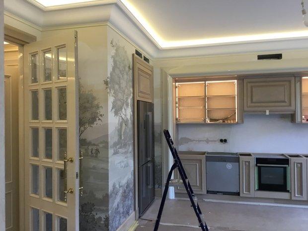 Роспись стен в интерьере.