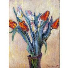 Картина (репродукция, постер): Vase of Tulips, 1885 - Клод Моне