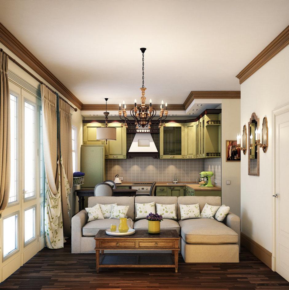 Фотография: Кухня и столовая в стиле Прованс и Кантри, Классический, Квартира, Проект недели – фото на InMyRoom.ru