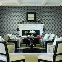 Фотография: Гостиная в стиле Кантри, Интерьер комнат, Картины, Зеркало – фото на InMyRoom.ru