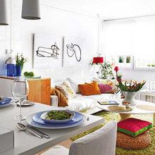 Фотография: Кухня и столовая в стиле Современный, Малогабаритная квартира, Квартира, Испания, Цвет в интерьере, Дома и квартиры, Белый – фото на InMyRoom.ru