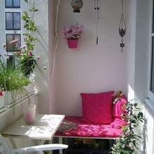 Фотография: Балкон в стиле Кантри, Квартира, Декор, Советы, как обустроить открытый балкон, городской балкон, открытый балкон, идеи для открытого балкона – фото на InMyRoom.ru