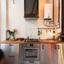 Фотография: Кухня и столовая в стиле Лофт, Эклектика, Квартира, Проект недели, Москва, Герой InMyRoom, Ксения Стрекоза – фото на InMyRoom.ru