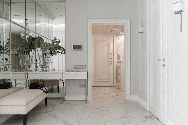 Фотография: Прихожая в стиле Классический, Современный, Квартира, Проект недели, 3 комнаты, Более 90 метров, Иркутск, Мария Бадяева – фото на INMYROOM