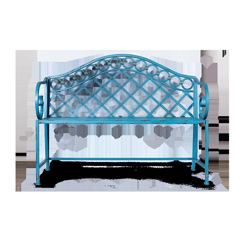 Скамья двухместная Chateau голубого цвета
