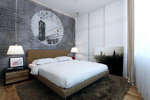 Фотография: Спальня в стиле Скандинавский, Прованс и Кантри, Лофт, Декор, Советы, Ремонт на практике, кирпич в интерьере, покраска кирпичной стены, кирпичная стена, кирпичная стена в интерьере, краска для кирпичной стены – фото на InMyRoom.ru