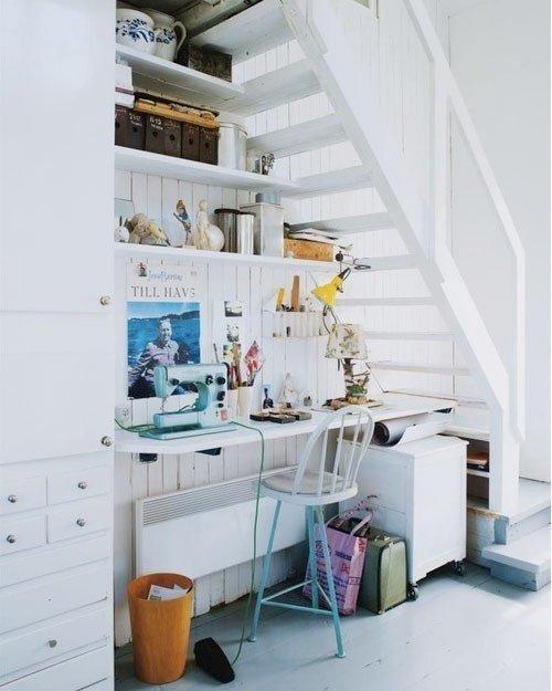 Фотография: Спальня в стиле Прованс и Кантри, Советы, Гид, Дом и дача, ниша под лестницей – фото на InMyRoom.ru