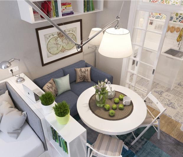 Фотография: Мебель и свет в стиле Лофт, Эклектика, Декор интерьера, DIY, Малогабаритная квартира, Квартира, Белый, Бежевый, Серый – фото на InMyRoom.ru