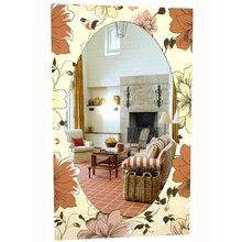 """Зеркало с рисунком """"Осенние цветы"""""""