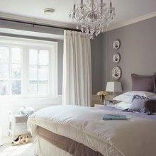 Фотография: Спальня в стиле Кантри, Декор интерьера, Дизайн интерьера, Цвет в интерьере, Серый – фото на InMyRoom.ru