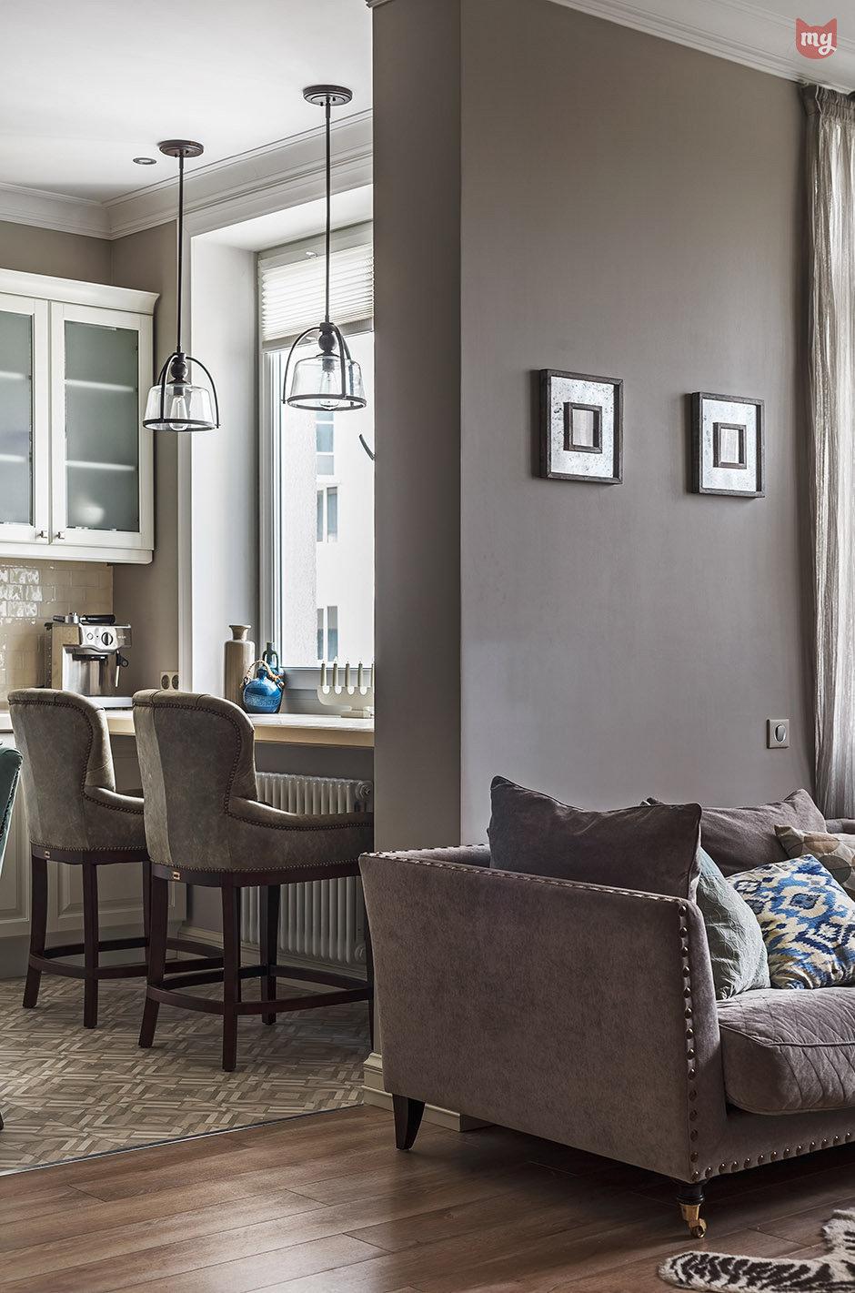 Фотография: Кухня и столовая в стиле Прованс и Кантри, Квартира, Проект недели, Наталья Сорокина – фото на InMyRoom.ru