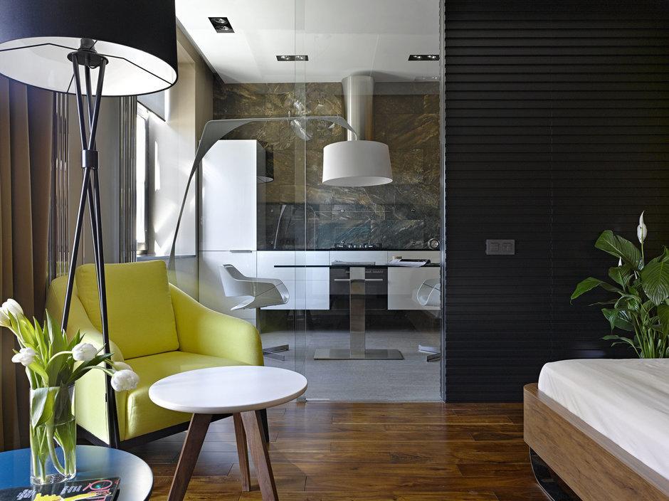 Фотография: Гостиная в стиле Эко, Современный, Малогабаритная квартира, Квартира – фото на InMyRoom.ru