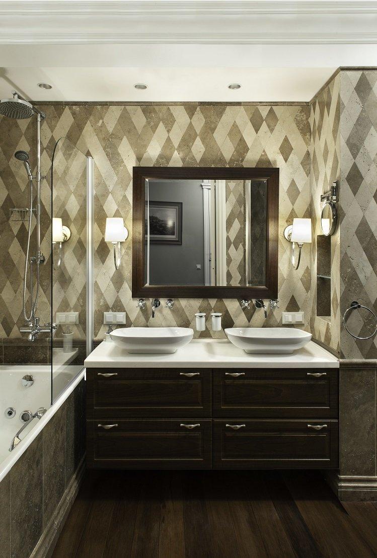 Фотография: Ванная в стиле Современный, Эклектика, Квартира, Дома и квартиры – фото на InMyRoom.ru