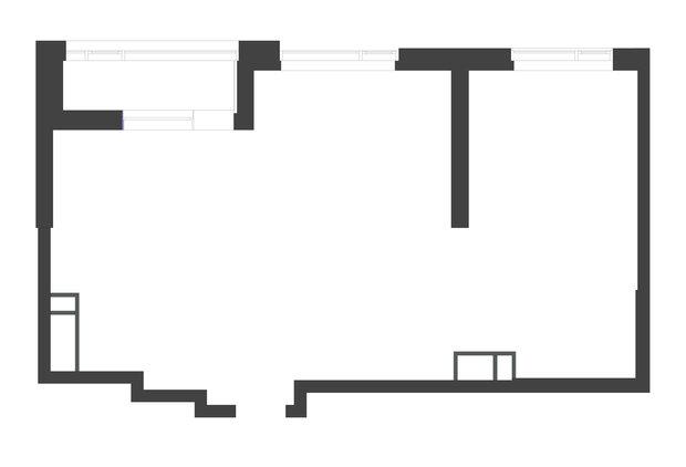 Обмерный план двухкомнатной квартиры в ЖК «Символ» (67,7 кв.м)