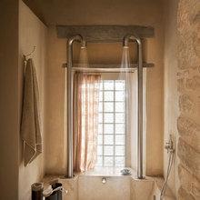 Фотография: Ванная в стиле Эко, Цвет в интерьере, Дома и квартиры, Городские места, Отель – фото на InMyRoom.ru
