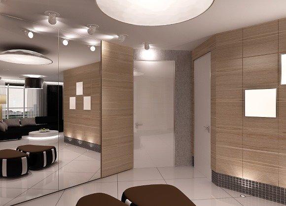 Фотография: Прихожая в стиле Современный, Обои, Переделка, Плитка, Краска, Стеновые панели – фото на InMyRoom.ru