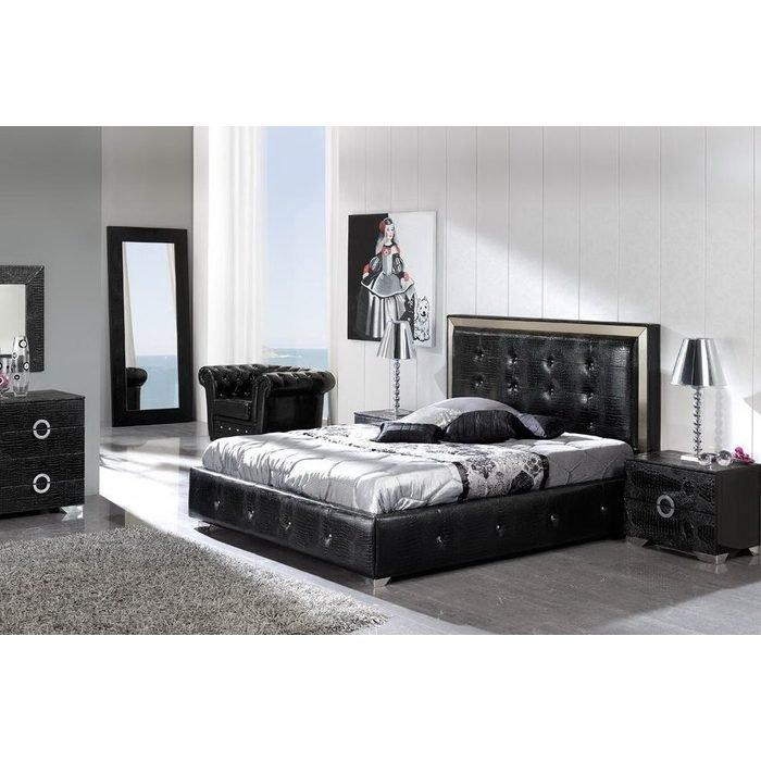 """Кровать """"COCO black"""" с ящиком для белья 160x200 см"""