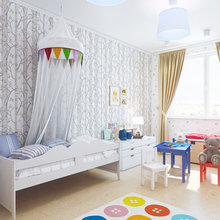 Фото из портфолио Детская. Дизайн трехкомнатной квартиры в Петербурге.  – фотографии дизайна интерьеров на INMYROOM