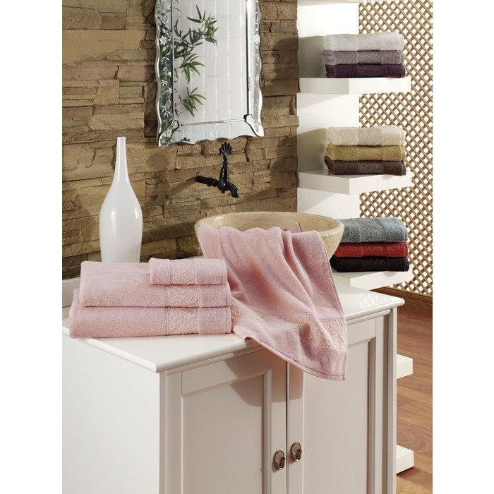 Набор полотенец 70х140 3шт/эконом упаковка RAVENNA розовый