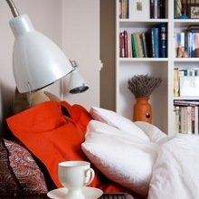 Фотография: Спальня в стиле Современный, Малогабаритная квартира, Квартира, Цвет в интерьере, Дома и квартиры, Переделка – фото на InMyRoom.ru