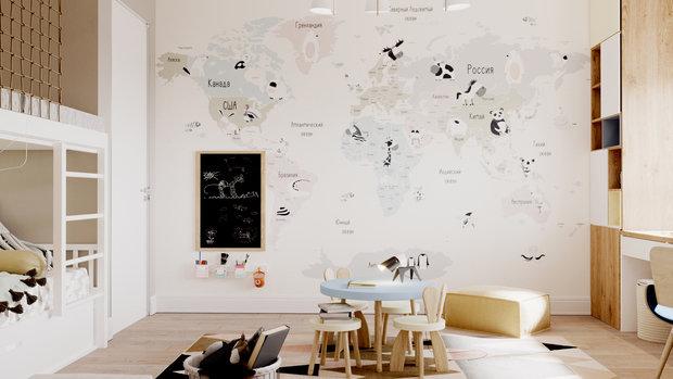 Фотография: Детская в стиле Современный, Квартира, Проект недели, Samsung, Монолитный дом, 3 комнаты, 60-90 метров, ЖК Headliner, Леся Печенкина – фото на INMYROOM