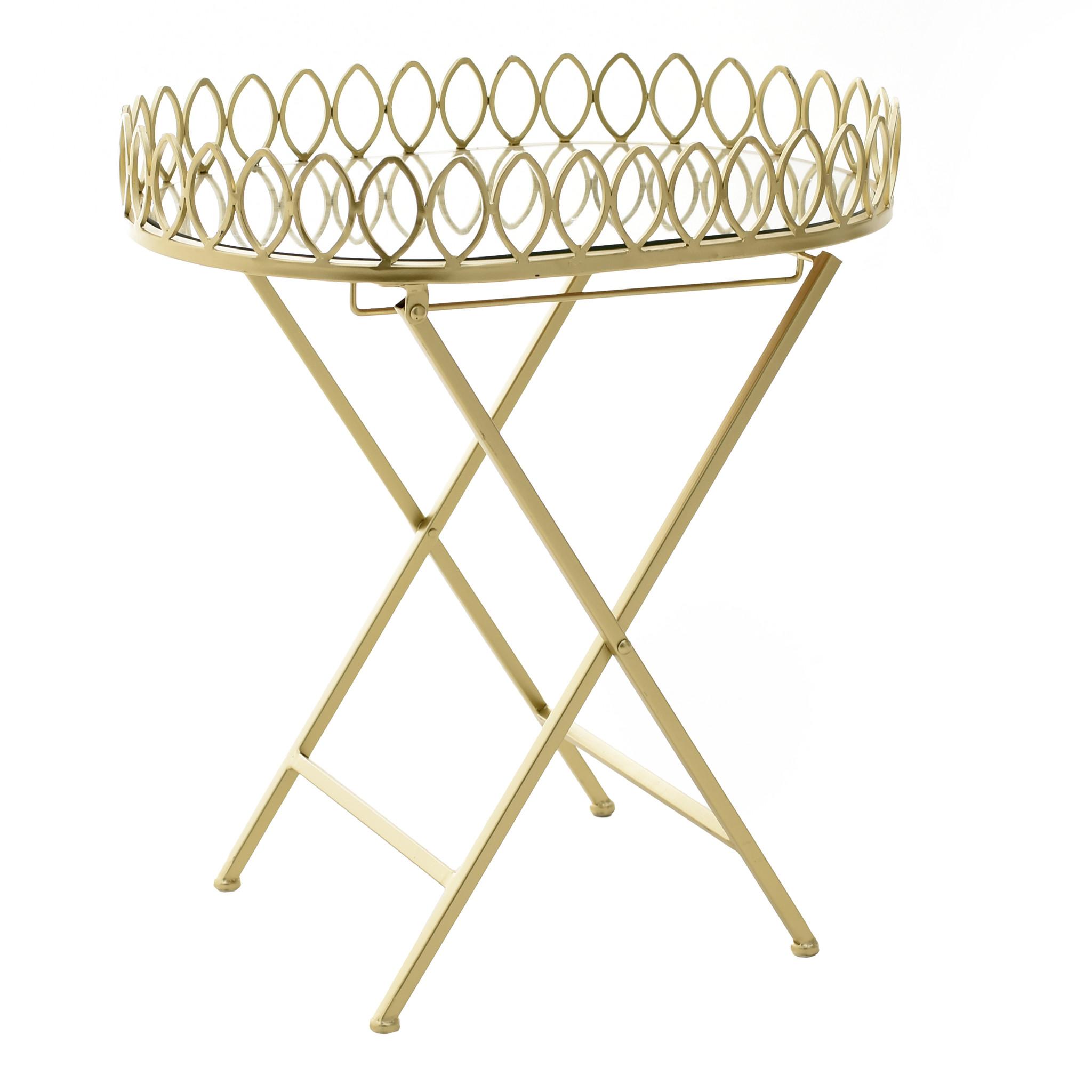 Стол-поднос со стеклянной столешницей
